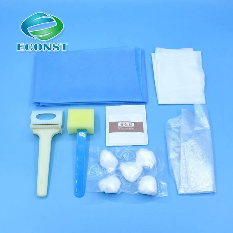 Disposable medical shaving prep tray, skin prepration kit for surgery ( ordinary type) with CE Approved